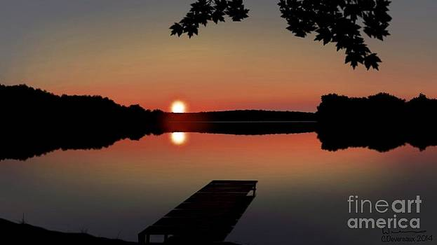 Lake Sunset by Chuck Devereaux Art
