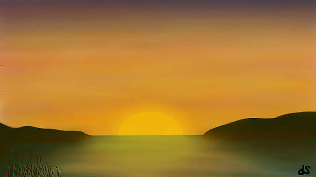 Lake Sunset by Daniel Sallee