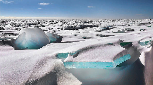 Lake Superior Blue Ice by Scott Gilbertson