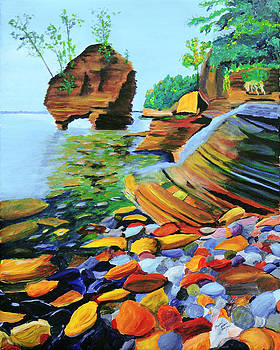 Lake Superior from the Rocks by Frankie Picasso