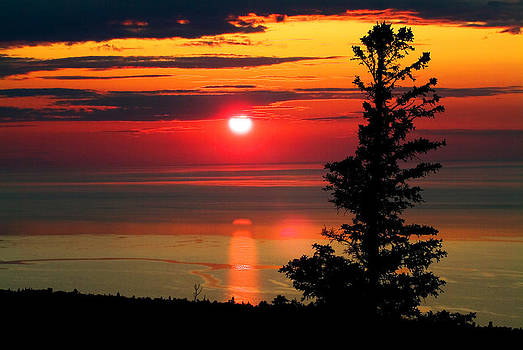 Devinder Sangha - Lake Superior Sunset