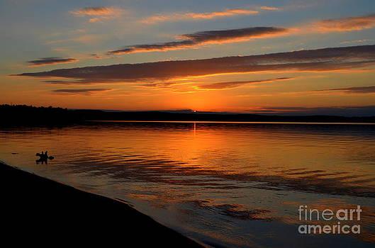 Lake Superior Sunset Ripples by Jaunine Roberts