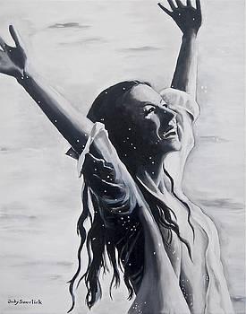 Lake Swan Splash by Judy Swerlick