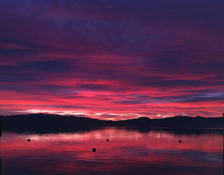 Lake Tahoe Alpenglow by Heather Lavoie