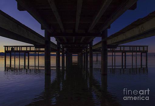 Lake Tahoe Pier by Nicole Markmann Nelson