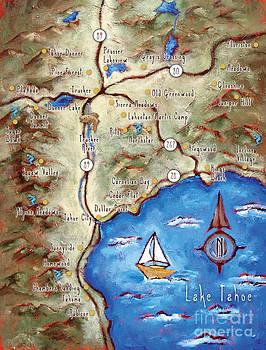 Lake Tahoe Truckee Map by Sara Zimmerman