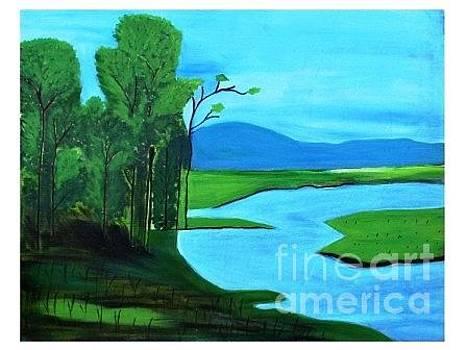 Lake view by Purnima Jain