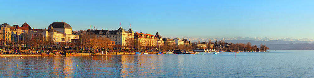 Lake Zurich Panorama by Marc Huebner