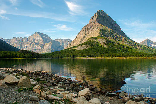 Lakeshore Mountains by Denise Lilly