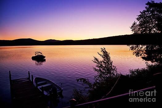 Jo Ann Snover - Lakeside dock summer dawn