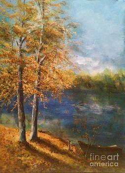 Lakeside Fall by Lizzy Forrester