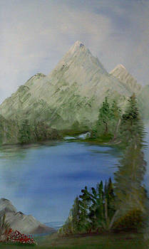 Lakeside of the mountain by Barbara Unruh