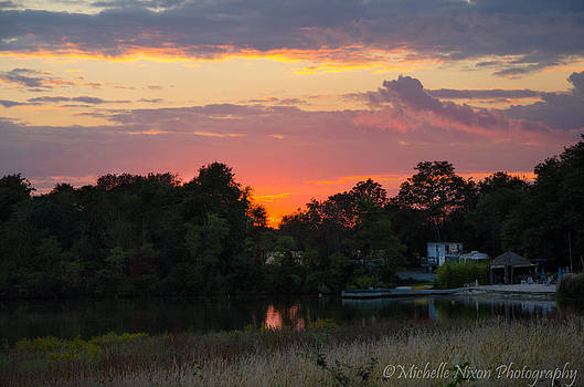 Lakeside Sunset by Michelle Nixon