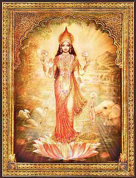 Lakshmi Goddess of Fortune with lighter frame by Ananda Vdovic