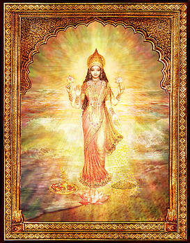 Lakshmi the Goddess of Fortune and Abundance by Ananda Vdovic