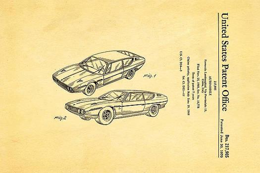 Ian Monk - Lamborghini Espada Design Patent Art 1970