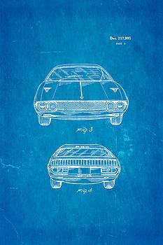 Ian Monk - Lamborghini Espada Design Patent Art 2 1970 Blueprint