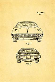 Ian Monk - Lamborghini Espada Design Patent Art 2 1970