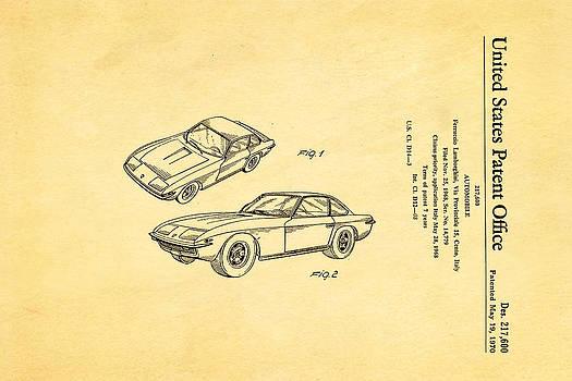 Ian Monk - Lamborghini Islero Design Patent Art 1970