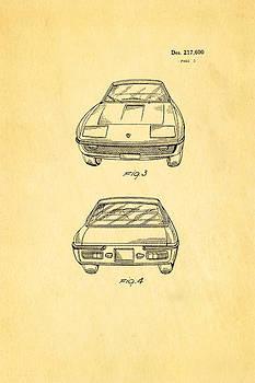 Ian Monk - Lamborghini Islero Design Patent Art 2 1970