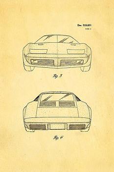 Ian Monk - Lamborghini style GMC Automobile 2 Patent Art 1974