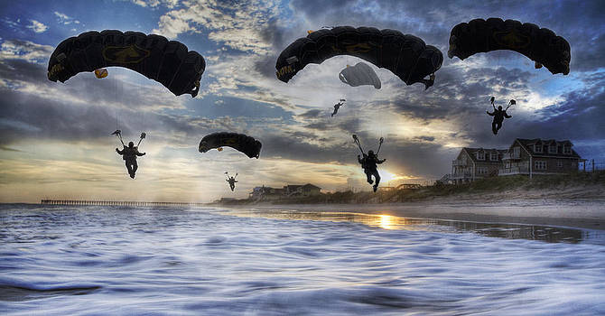 Landing at Sunset by Betsy Knapp