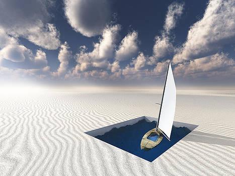 Landlocked Boat by Bruce Rolff