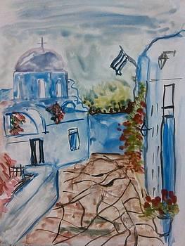 Landscape from Greece by Farfallina Art -Gabriela Dinca-