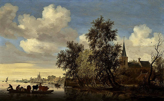 Landscape by Salomon van Ruysdael