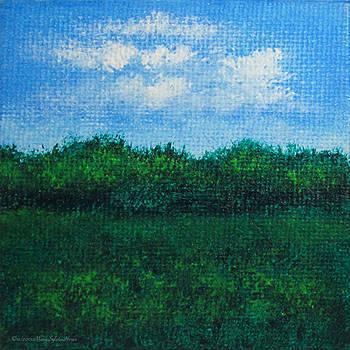 Landscape Study 2...Mini-Art by Mary Sylvia Hines