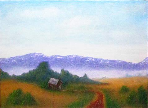 Landscape Study v6 by Mary Sylvia Hines