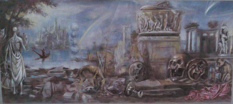 Landscape With Mortality Emblems by Paez  ANTONIO