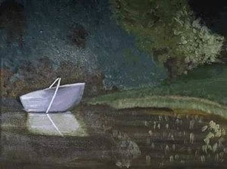 Landscape with the boat by Andrea Kucza