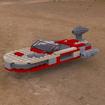 Landspeeder on the Ground by John Hoagland