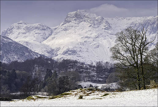 Langdales View from Elterwater. by George Hodlin