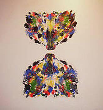Langdonart 2LoupsPapillonScene 1 by Artiste LangdonArt