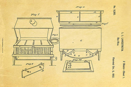 Ian Monk - Langstroth Bee Hive Patent Art 1852