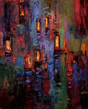 Lanterns and water by R W Goetting
