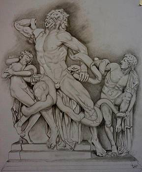 Laocoon and His Sons by A Hwais