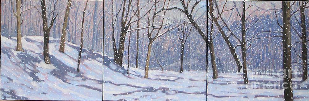 Larence Park Triptych by Joan McGivney