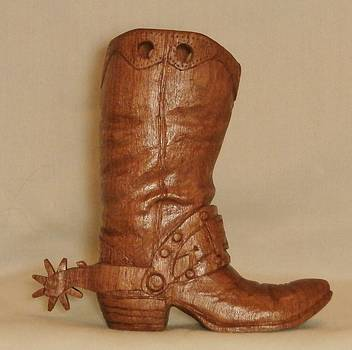 Large Cowboy Boot by Russell Ellingsworth