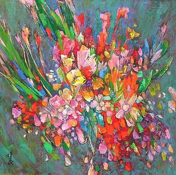 Large flowers by Siang Hua Wang