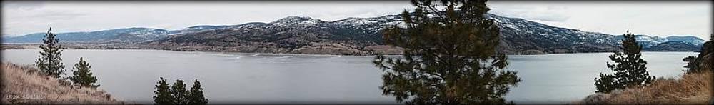 Guy Hoffman - Large Panorama of Frozen Skaha Lake 2014