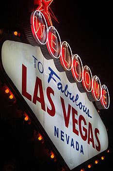 Las Vegas Sign at Night by Pamela Lecavalier