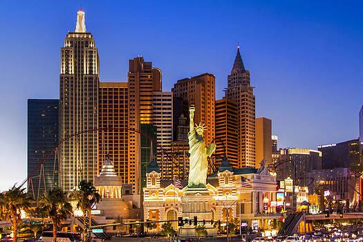 Las Vegas New York Skyline by Gej Jones