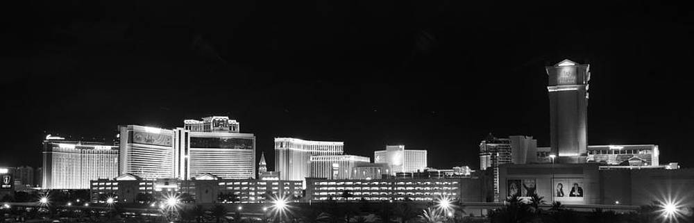 Las Vegas Skyline West View BW by Arnold Despi