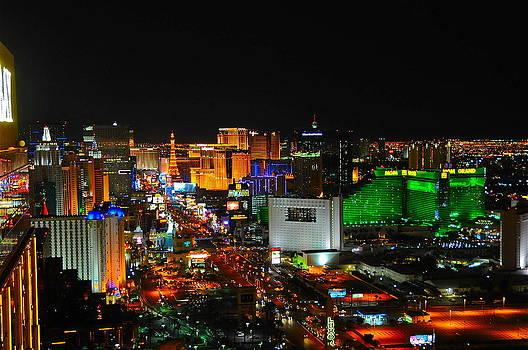 Las Vegas Strip at night by Amanda Miles