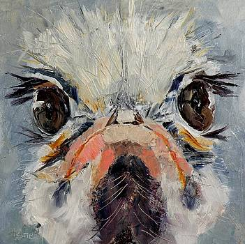 Lashes - an Ostrich by Saundra Lane Galloway