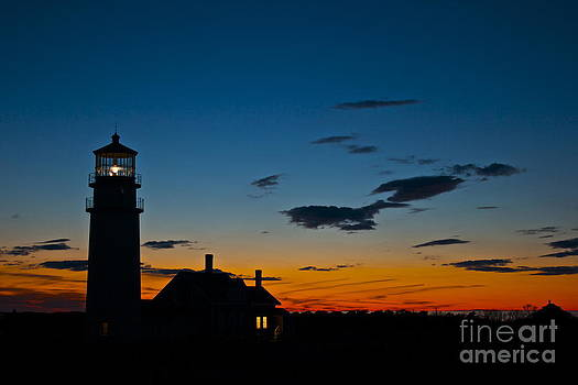 Last Light at Highland Lighthouse by Amazing Jules