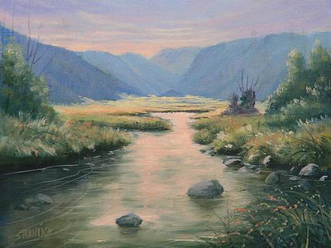 Last Light On The Moraine - RMNP by Kenneth Shanika